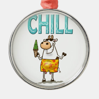 Cow Chilling Christmas Ornament