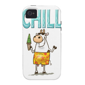 Cow Chilling Vibe iPhone 4 Covers