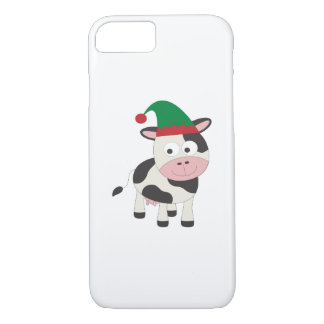 Cow Christmas Elf iPhone 7 Case