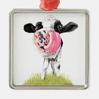Cow Christmas Ornament