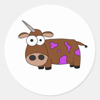 cow classic round sticker