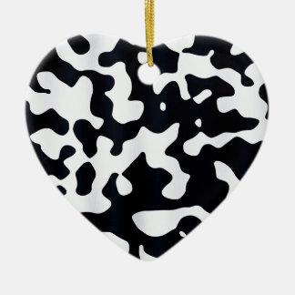 Cow coat texture christmas ornament