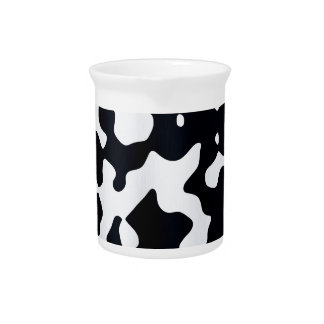 Cow coat texture pitcher