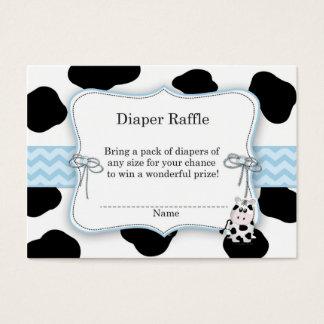 Cow Cowboy Diaper Raffle Ticket