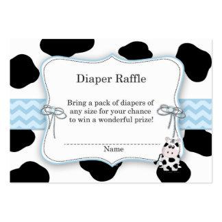 Cow Cowboy Diaper Raffle Ticket Business Card