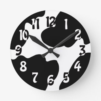 Cow Crazy clock