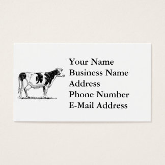 Cow Design Pencil Sketch Business Card