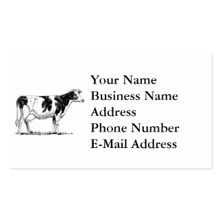 Cow Design Pencil Sketch Pack Of Standard Business Cards