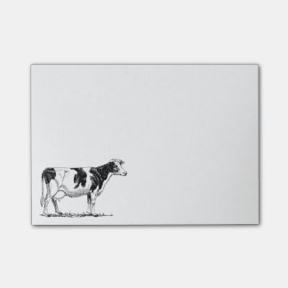 Cow Design Pencil Sketch Post-it Notes