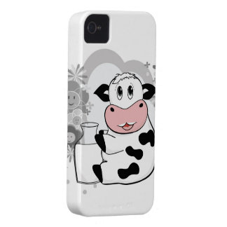 Cow drinking milk iPhone 4 cover