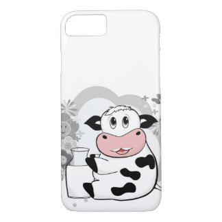 Cow drinking milk iPhone 7 case