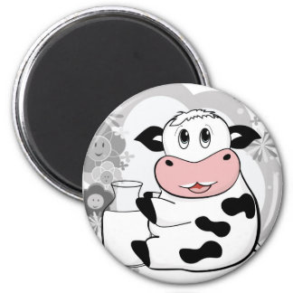 Cow drinking milk magnet