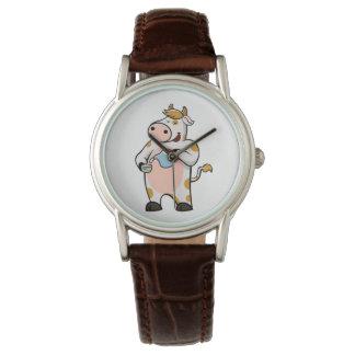 cow drinking milk wrist watches