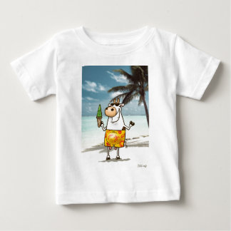 Cow eating a grass ice cream baby T-Shirt
