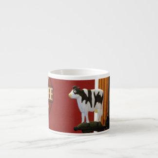 Cow espresso mug
