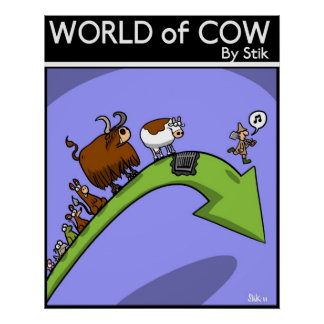 Cow Evolution Poster
