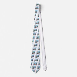 Cow Family Snow Skiing Funny Tie