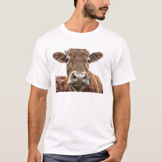 Cow, farm agriculture, head, cattle, beast, farmer T-Shirt