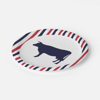 Cow Farmhouse paper plates