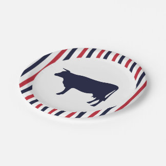 Cow Farmhouse paper plates 7 Inch Paper Plate