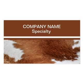 Cow Fur Business Card Standard Business Cards