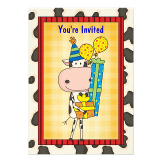 Cow Gifts - Graduation Party Personalized Invites