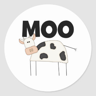 Cow Gifts Round Stickers