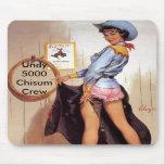 Cow girl pinup mousepad