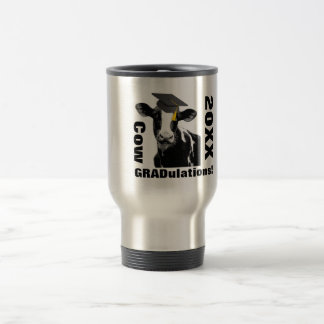 Cow Grad U Lations! Congratulations Graduates! Travel Mug
