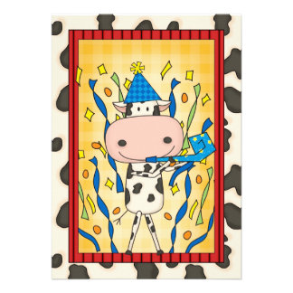 Cow - Graduation Party Custom Invitations