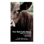 Cow Head  Beef Ranch Pack Of Standard Business Cards