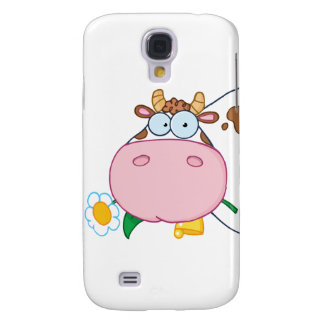 Cow Head Cartoon Character Samsung Galaxy S4 Cover