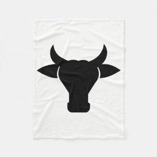 Cow Head Silhouette Fleece Blanket
