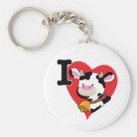 Cow Heart Key Chain