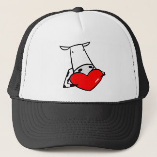 Cow Heart Valentine I Love Cows Trucker Hat