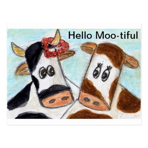 Cow hello moo tiful postcard zazzle for Moo postcard dimensions