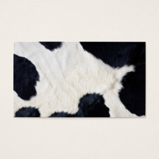 Cow Hide Black White Background Business Card