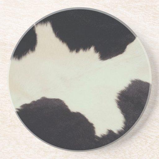 Cow Hide Coaster Coasters