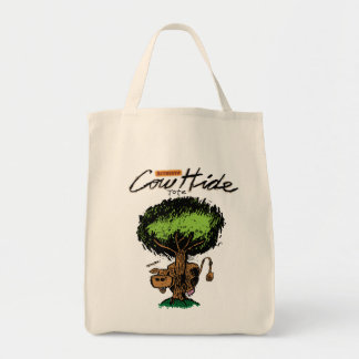 Cow Hide Grocery Tote Bags