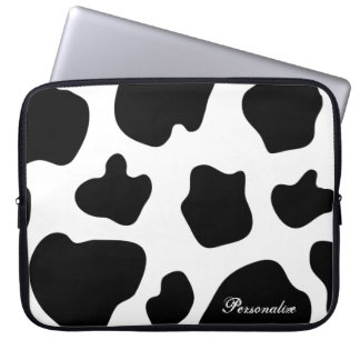 Cow hide pattern laptop sleeve | Cute animal print