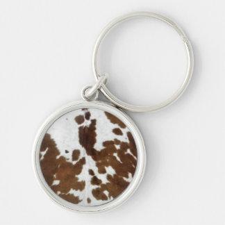 Cow Hide Print Keychain
