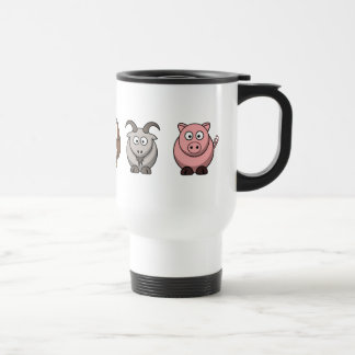 Cow Hippo Owl Goat Pig Travel Mug