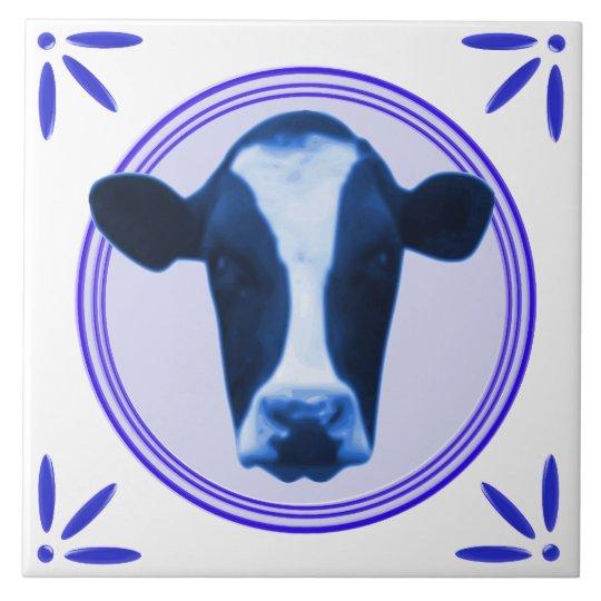 Cow Holland Delftware-Delft-Blue-Look Printed Tile