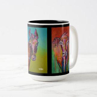 Cow Horse Buff Two-Tone Mug