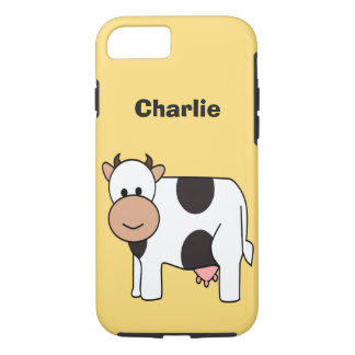 Cow illustration custom name phone cases