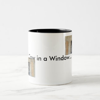 Cow in a Window Two-Tone Mug