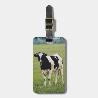 Cow in field of Wildflowers Bag Tag