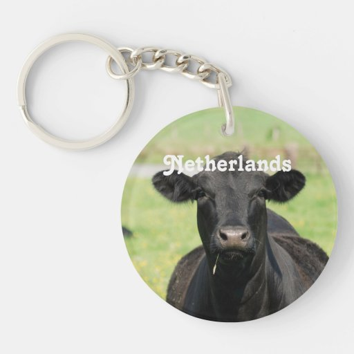 Cow in Netherlands Key Chains