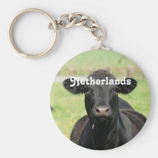 Cow in Netherlands Keychains