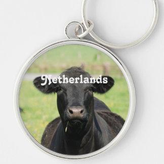 Cow in Netherlands Keychain